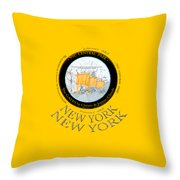 The Gates By Christos In Central Park Throw Pillow