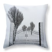 The Gates To Nowhere Throw Pillow