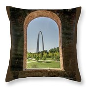 The Gateway To The Arch Throw Pillow
