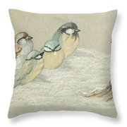 The Gathering Throw Pillow by Ginny Youngblood