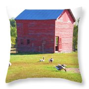 The Geese Are Out Throw Pillow