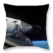 The Gemini 7 Spacecraft In Earth Orbit Throw Pillow