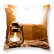 The General Store Backroom - Sepia Throw Pillow