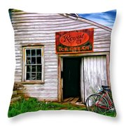 The General Store Painted Throw Pillow
