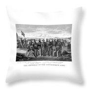 The Generals Of The Confederate Army Throw Pillow by War Is Hell Store