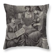 The Gentle Music Of The Bygone Day Throw Pillow