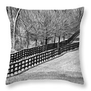 The Geometry Of Spring - Paint Bw Throw Pillow