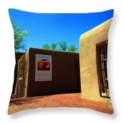 The Georgia O'keeffe Museum In Santa Fe Throw Pillow