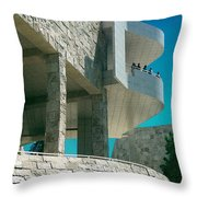 The Getty Panel Three From Triptych Throw Pillow