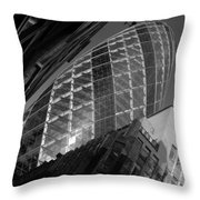 The Gherkin Black And White Throw Pillow