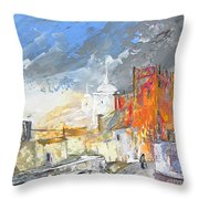 The Ghost Of Religion In Spain Throw Pillow