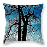 The Ghostly Tree Throw Pillow