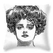 The Gibson Girl Throw Pillow