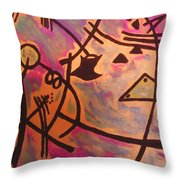 The Ghilotine Throw Pillow