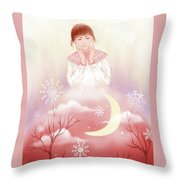 The Girl In Meditation Throw Pillow