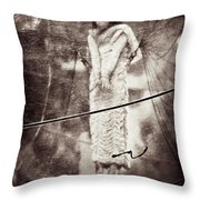 The Girl In The Bubble Throw Pillow by Dave Bowman