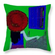 The Girl In The Mirror Throw Pillow