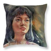The Girl Throw Pillow