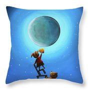 The Girl With The Golden Heart Throw Pillow