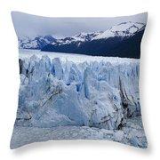 The Glacier Advances Throw Pillow