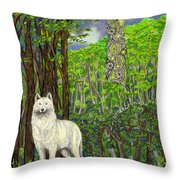 The Glass Throw Pillow