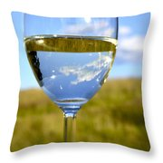 The Glass Is Half Full Throw Pillow