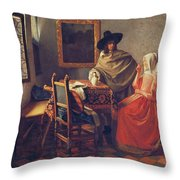 The Glass Of Wine Throw Pillow