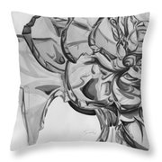The Glass Rose Throw Pillow