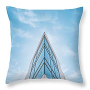 The Glass Tower On Downer Avenue Throw Pillow
