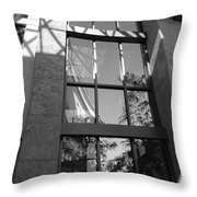 The Glass Window Throw Pillow