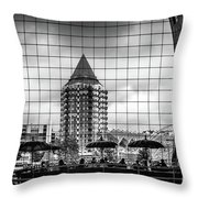 The Glass Windows Of The Market Hall In Rotterdam Throw Pillow