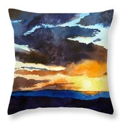 The Glory Of The Sunset Throw Pillow