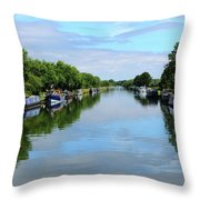 The Gloucester And Sharpness Canal Throw Pillow