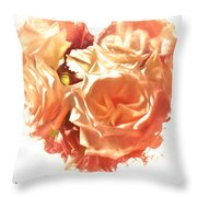 The Glow Of Roses Throw Pillow