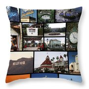 The Glow Of Southern California Throw Pillow