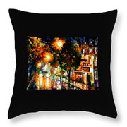 The Glowing Night Throw Pillow