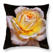 The Glowing Rose Throw Pillow