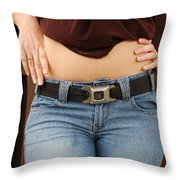 The Gm Belt Throw Pillow