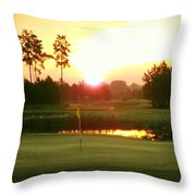 The Goal's In Sight Throw Pillow