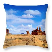 The Goblin Valley Throw Pillow