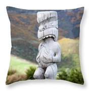 The God Of The Wind Throw Pillow