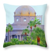 The Gold Dome Throw Pillow