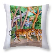 The Gold Of The Tigers Throw Pillow