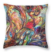 The Gold Times Throw Pillow