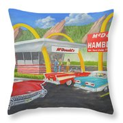 The Golden Age Of The Golden Arches Throw Pillow