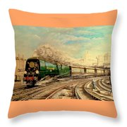 The Golden Arrow Leaves Victoria Throw Pillow