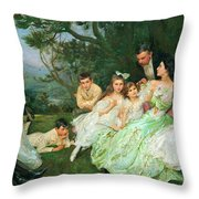 The Golden Butterfly. The Harvey Family Throw Pillow