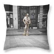 The Golden Cowboy Throw Pillow by Stwayne Keubrick