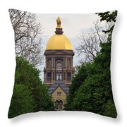 The Golden Dome Throw Pillow
