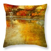 The Golden Dreams Of Autumn Throw Pillow